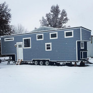 First snow on our tiny house! ❄️(my wife