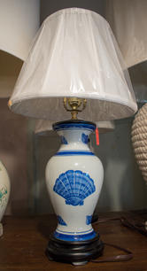 Painted Shell Lamp
