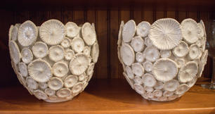 ***SOLD*** Cream Shell Bowls