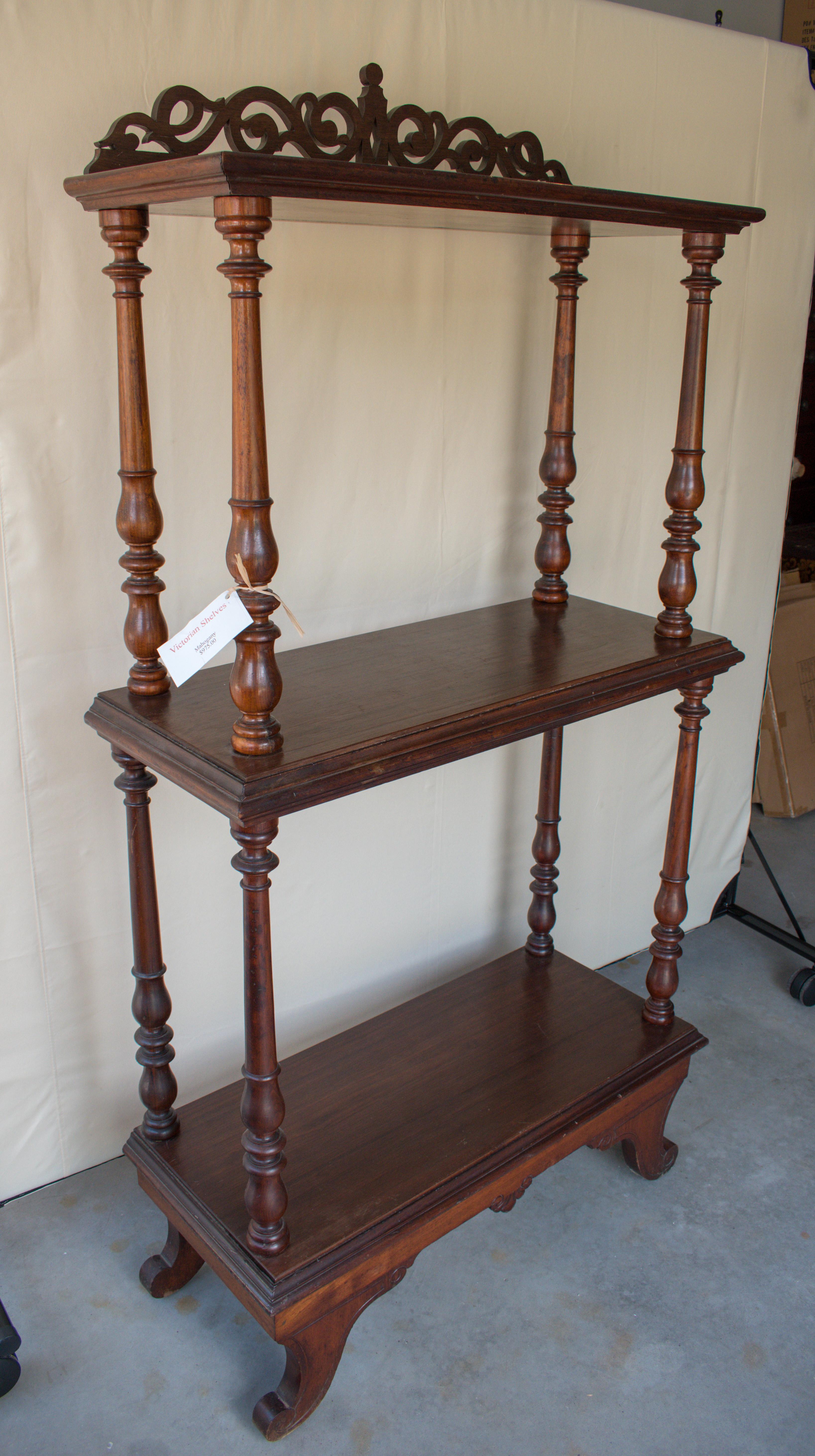 Mahogany Victorian Shelves