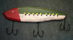 Painted Fish with Hooks