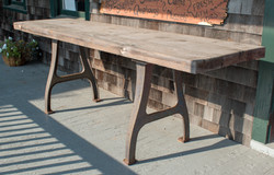 Work Table with Iron Legs