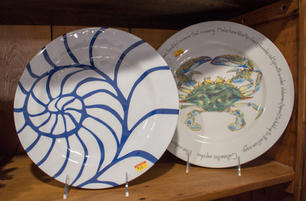 Painted Crab Plate