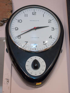 Black Clock with Timer