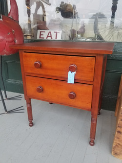 ***SOLD***  Cherry 2-Drawer Stand