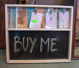***SOLD*** Chalkboard with Photo Clips