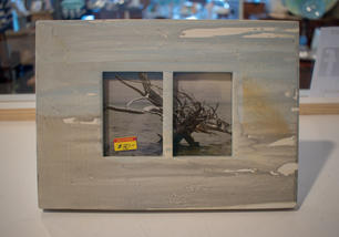 Blue Watercolor Double Frame 2x3
