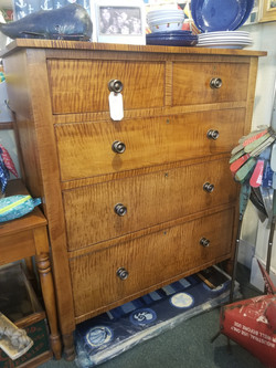 Solid Tiger Maple Chest of Drawers