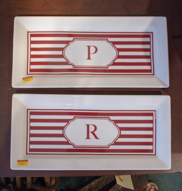 """Letter """"P"""" Plate"""