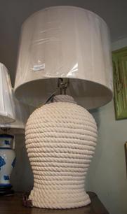 Poseidon Table Lamp w/ Stone Linen Shade