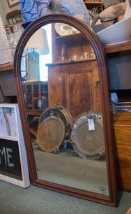 Antique Mirror with Rounded Top