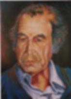 """Padre Cacho"" - Oleo sobre cartón / Oil on cardboard 40 x 63 cm"