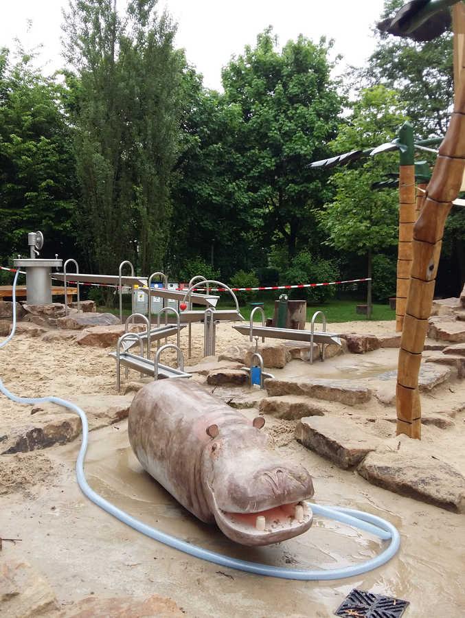 Steinhake Wasserspielplatz Osnabrück