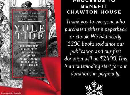 YULETIDE Anthology Raises $2400 for #ChawtonHouse