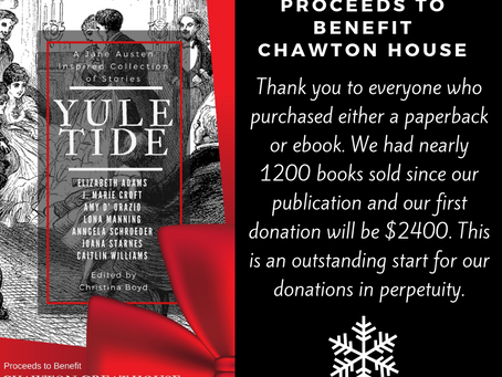 YULETIDE Anthology Raises $2400 for #ChawtonHouse