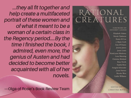 Olga of Rosie's Book Review Team Reviews #RationalCreatures