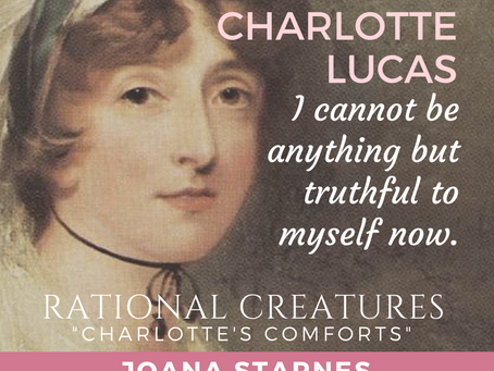 Author Joana Starnes & Charlotte Lucas in #RationalCreatures at My Love for Jane Austen