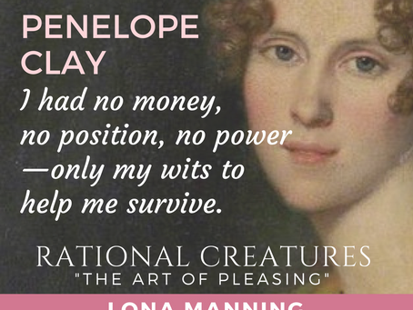 How Lona Manning Crafted Mrs Clay's Story in #RationalCreatures