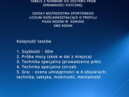Testy sprawnościowe SMS KONIN.