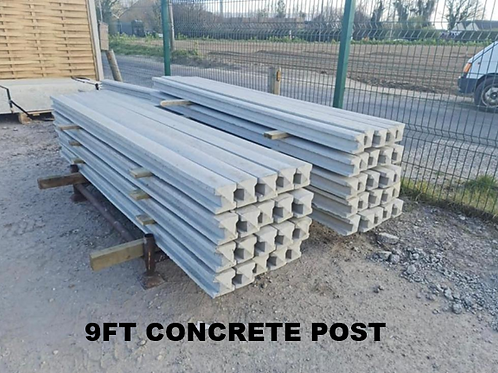 9ft   2700mm Concrete Slotted Post Pointed Top