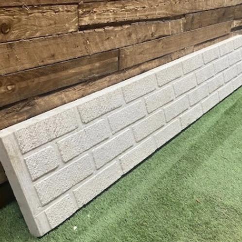 12in | 300mm | Brick Faced Concrete Gravel Board 6ft