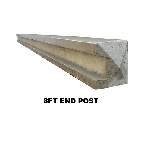8ft   2400mm Concrete Slotted End Post Pointed Top