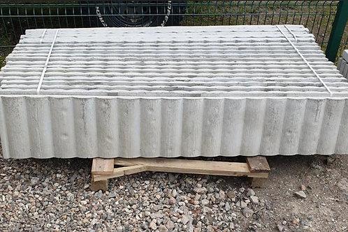 12in   300mm   Premium Log Faced Concrete Gravel Board 6ft