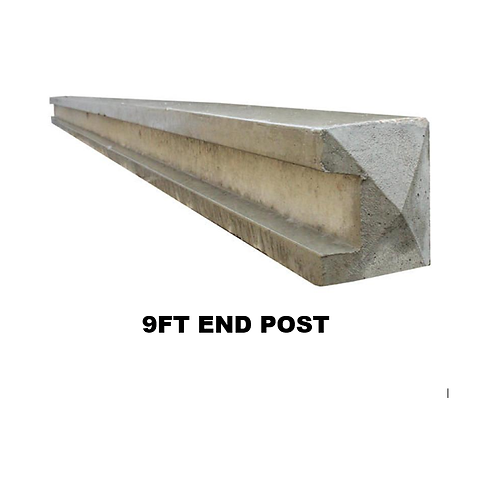 9ft | 2700mm Concrete Slotted End Post Pointed Top