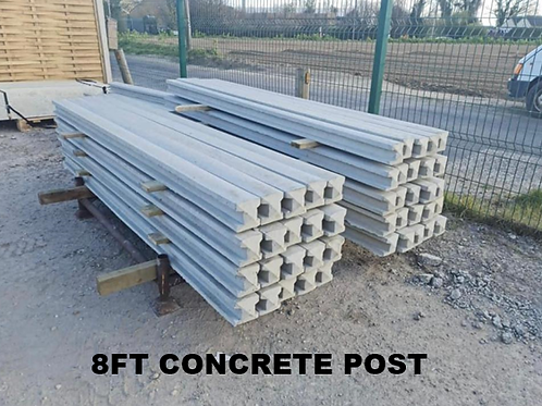8ft | 2400mm Concrete Slotted Post Pointed Top