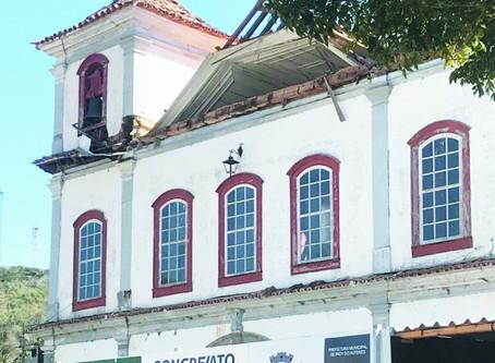 Operário morre em obra de restauração da Matriz em Paty do Alferes
