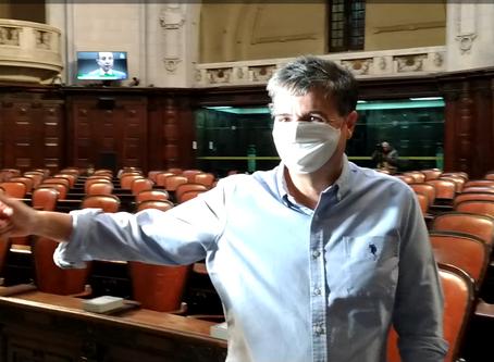 André Corrêa reassume mandato reafirmando inocência