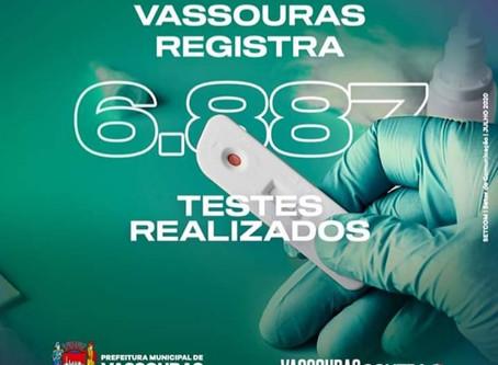 """Com mais de 6 mil testes realizados, Secretaria de Saúde vê Vassouras no """"caminho certo"""" no combate"""