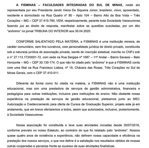 NOVO DIREITO DE RESPOSTA - FISMINAS-1