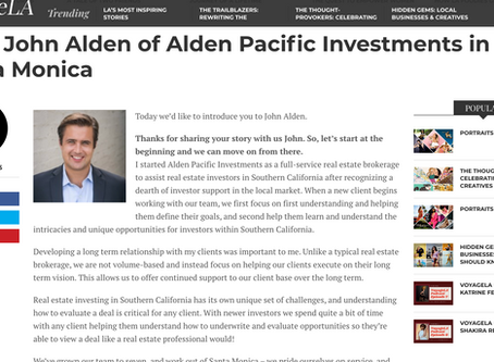 Alden Pacific Investments Featured in VoyageLA