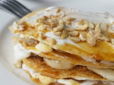 Vanilla Protein Banana Pancake Stack