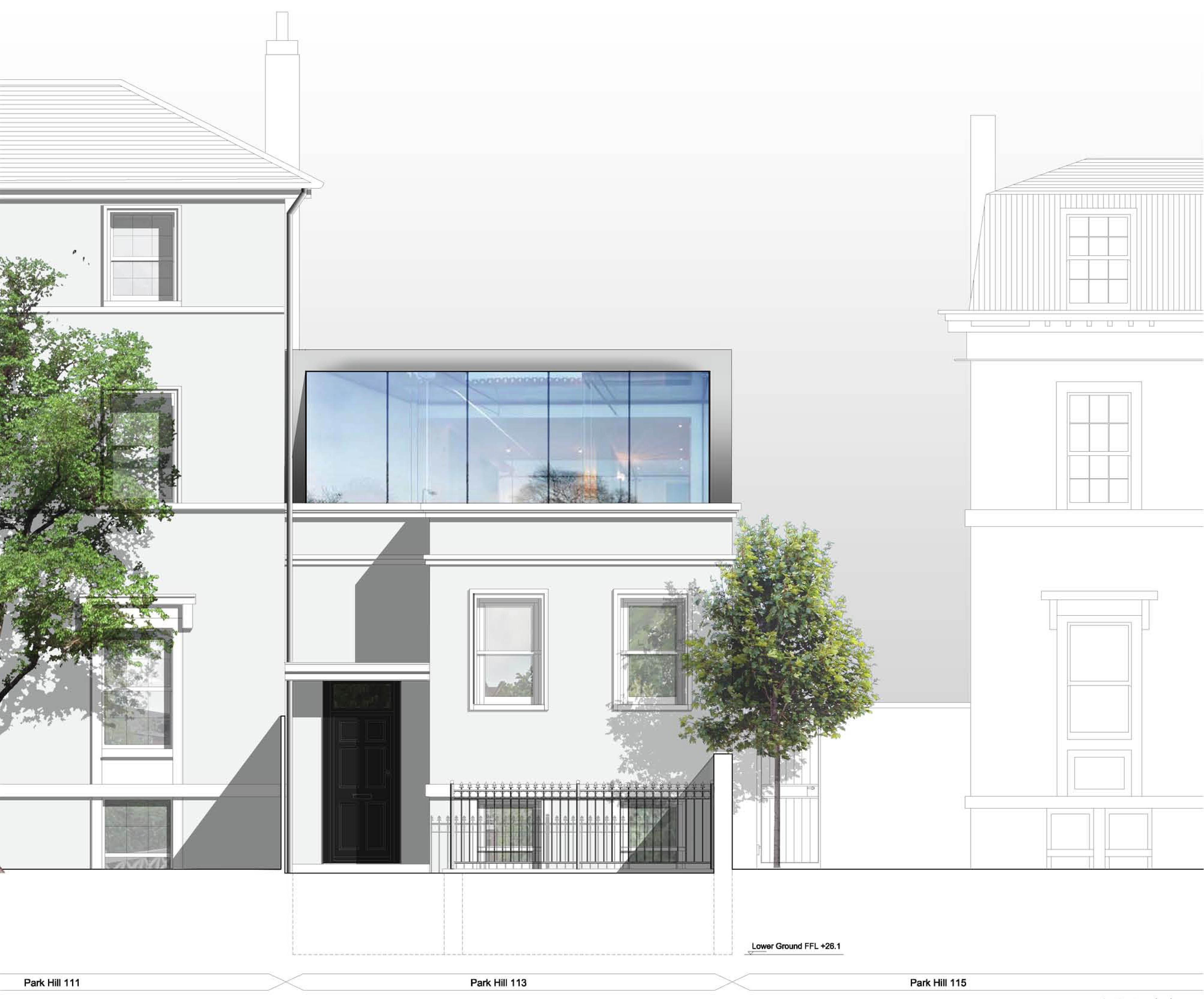 113_Park_Hill_front_elevation_glass_sf