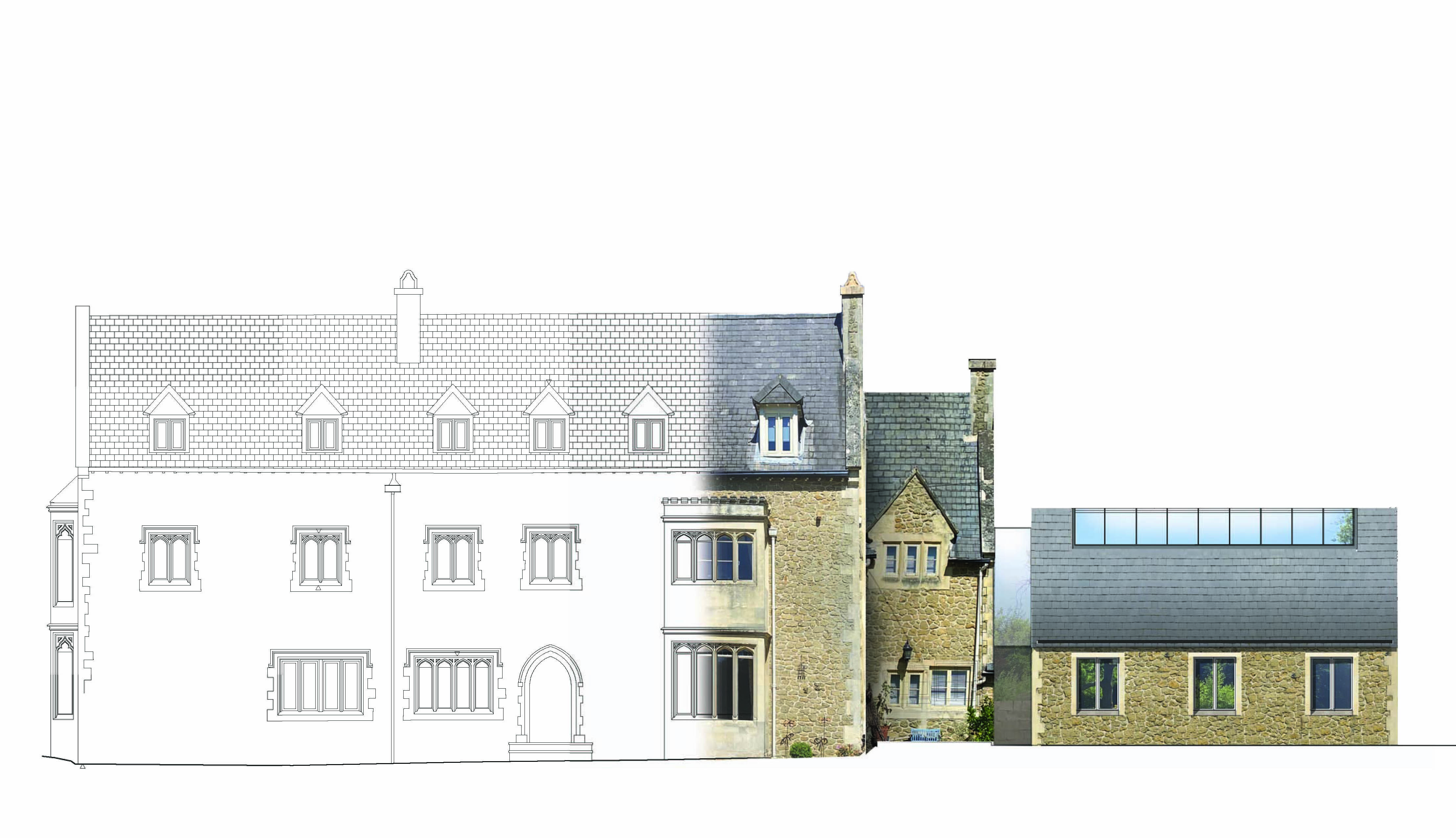 The Old Rectory Front Elevation