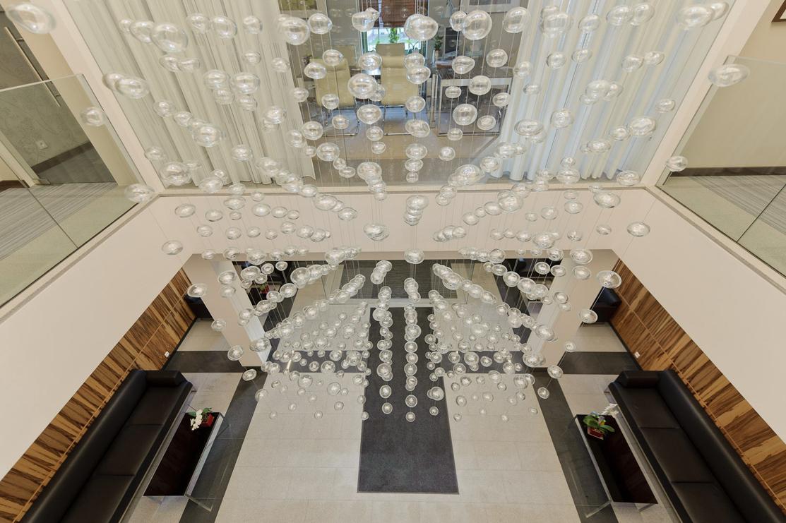 Office lobby chandelier