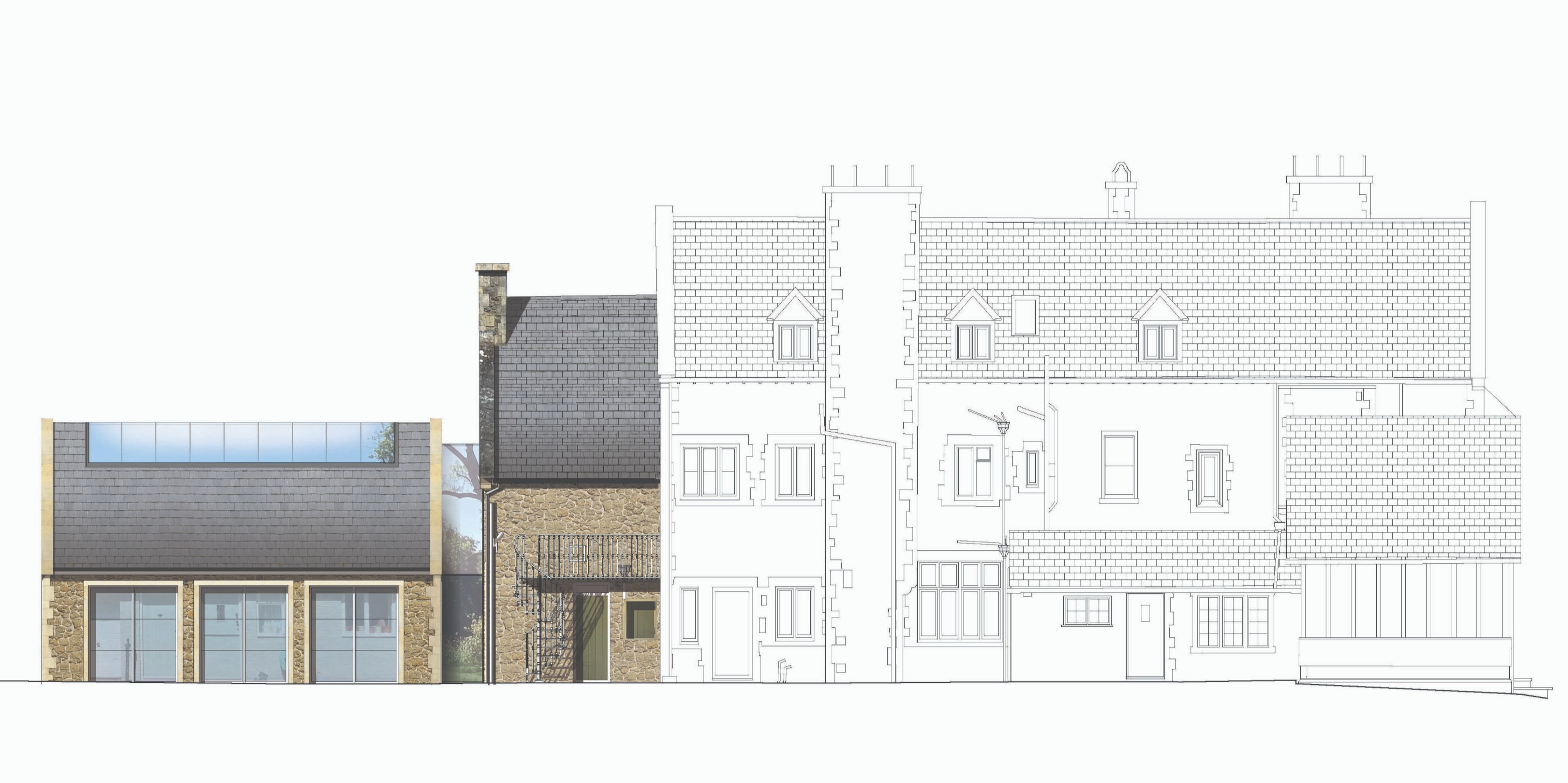 Old Rectory Rear Elevation