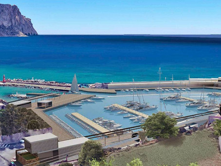 "The ""new"" marina of Maryvilla will have a great walk with views of the Peñón de Ifach"