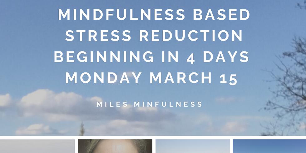 8 week Mindfulness Based Stress Reduction program Monday March 15