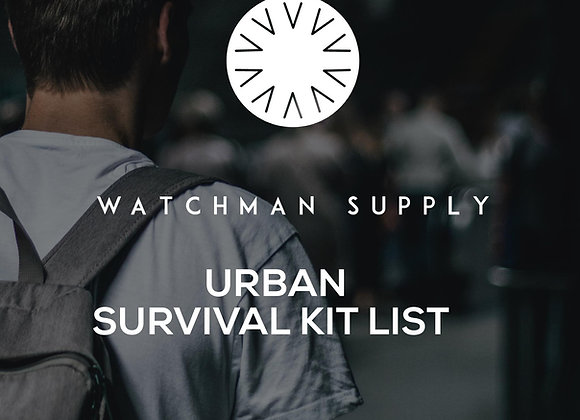 Urban Survival Kit List
