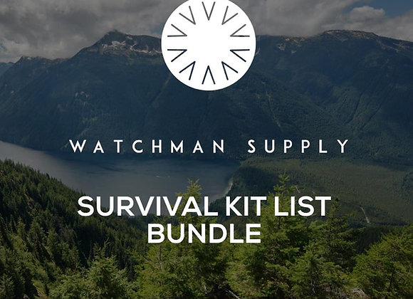 Survival Kit List Bundle