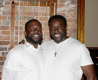 Aaron T. Jones with his father DeWayne Jones