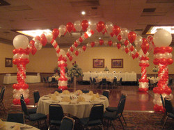 Dance Floor Balloon Decor