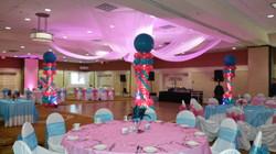 Dance Floor Column Decor