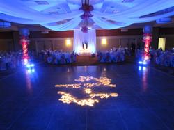 Blue Uplighting on Dance Floor