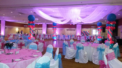 Balloon Columns and Ceiling Drapery
