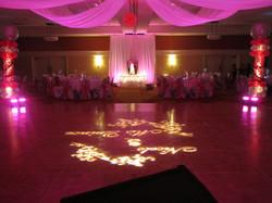 Dance Floor Decor with uplights