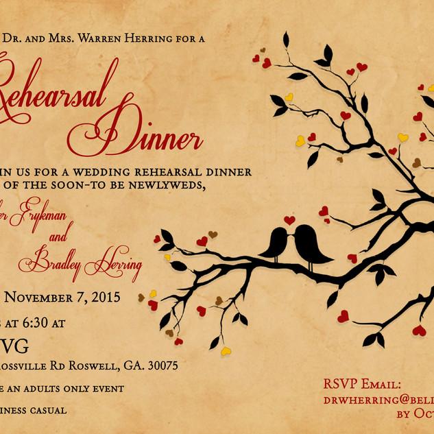 Rehearsal Dinner Invitation